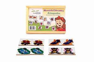 Memória Educativa Brinquedos - 40 peças
