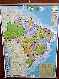 Mapa do Brasil em Braille