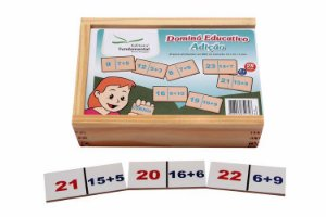 Dominó educativo de Adição c/ 28 peças