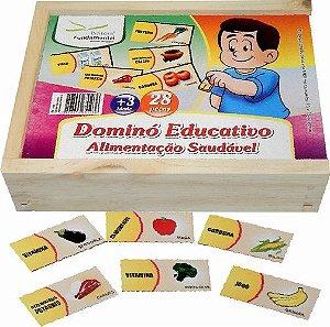 Dominó Educativo de Alimentação Saudável c/ 28 peças