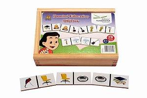 Dominó Educativo de Objetos - 28 peças