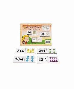 Memória Educativa - Adição e Subtração - Jogo c/40 peças - MDF