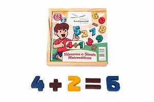 Números e Sinais Matemáticos - 25 peças
