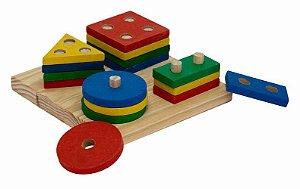 Prancha de Seleção - base 15x15cm e 16 formas geométricas
