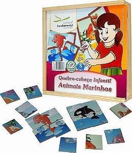 Quebra-Cabeça Infantil Animais Marinhos - 32 peças