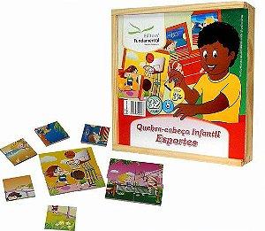 Quebra-Cabeça Infantil Esportes - 32 peças