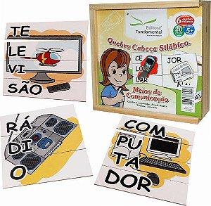 Quebra-Cabeça Silábico Meios de Comunicação - 20 peças