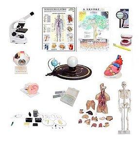 Laboratório de Ciências - Ensino Fundamental 1 - 50 peças