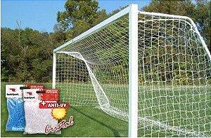 Rede de Futebol de Campo Tradicional - fio 2.0 mm