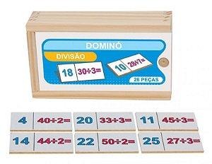 Dominó de Divisão em madeira - 28 peças