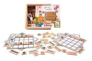 Bingo de Letras em Madeira - 156 peças