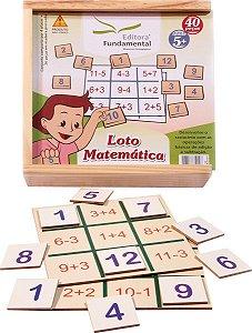 Loto Matemática - 40 peças em madeira