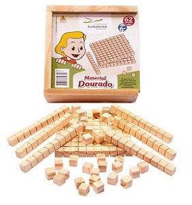 Material Dourado Individual - 62 peças em madeira