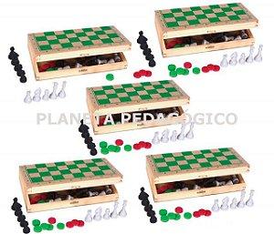 Kit 20 Jogos de Xadrez tipo estojo - Rei 5cm