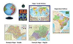 Kit Geografia - 25 itens