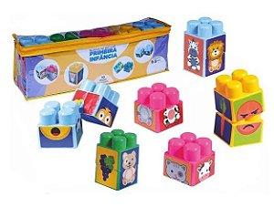 Blocos de Encaixe Primeira Infância - 10 peças