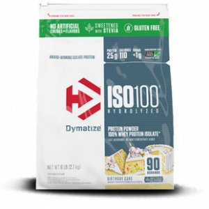 Iso 100 - 100% Hydrolyzed Stevia (5.9lb/2700g) Dymatize - BIRTHDAY CAKE
