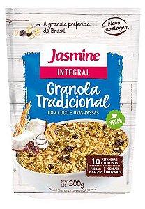 GRANOLA TRADICIONAL COM COCO E UVA PASSAS JASMINE 300G