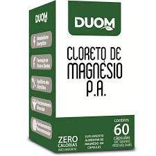 CLORETO DE MAGNESIO P.A 60 CAPSULAS 580MG DUOM