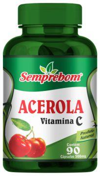 ACEROLA VITAMINA C 90 CAPSULAS DE 500MG SEMPREBOM