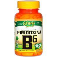 VITAMINA B6 PIRIDOXINA CAPSULAS 60 X 500MG UNILIFE