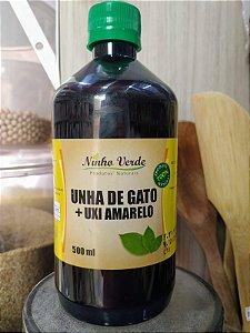 UNHA DE GATO COM UXI AMARELO 500ML NINHO VERDE