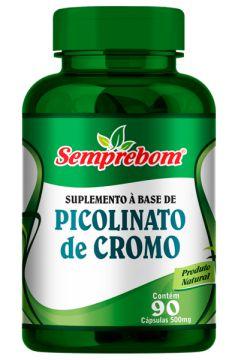 PICOLINATO DE CROMO - 90 CAPSULAS DE 500MG SEMPREBOM - INIBIDOR DE APETITE