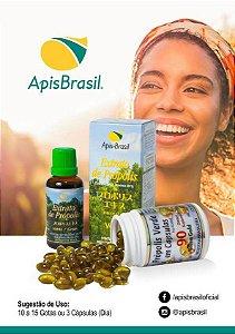 Extrato de Própolis Verde em Capsulas 90 x 250mg Apis Brasil