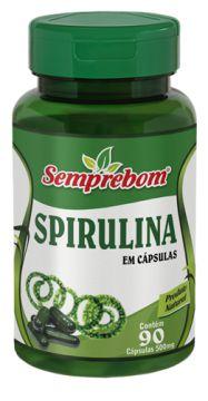 Spirulina - 90 cápsulas 500mg Semprebom