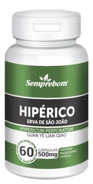 HIPERICO - ERVA DE SAO JOAO MENTRASTO - 60 CAPSULAS - 500MG SEMPREBOM
