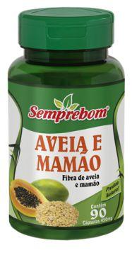 Aveia e Mamão 90 cápsulas - 450mg Semprebom