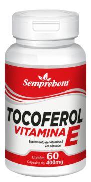 Vitamina E - Tocoferol - 60 Cápsulas - 400mg - Semprebom