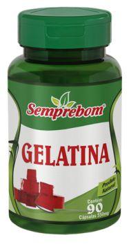 GELATINA -  90 CAPSULAS - 550MG - SEMPREBOM