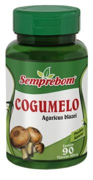 COGUMELO - 90 CAPSULAS - 400MG - SEMPREBOM