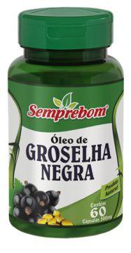 OLEO DE GROSELHA NEGRA 60 CAPSULAS SEMPREBOM