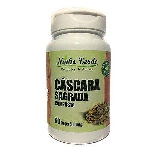 CASCARA SAGRADA COM SENE COMPOSTA - 60 CAPSULAS DE 500MG LAXANTE