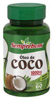 Óleo de Coco - 60 cápsulas - 1000mg - Semprebom