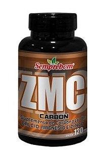 ZMC Carbon (Zinco+Magnésio+Cálcio) -  120 Cápsulas - 900mg - Semprebom