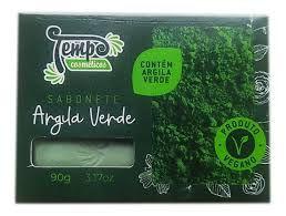 Sabonete de Argila Verde Vegano - 90g - Tempo Cosméticos (1 unidade)