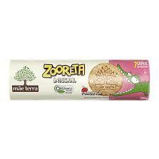 Biscoito Integral e Orgânico (Morango) - 110g - Zooreta Mãe Terra