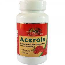 Acerola (Suplemento de Vitamina C) - 60 Cápsulas de 500mg - Rei Terra