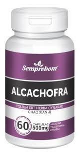 Alcachofra - 60 Cápsulas de 500mg - Semprebom