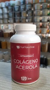 Colágeno Hidrolisado Tipo 1 e Acerola - 120 Cápsulas de 300mg - Nutri Nativa Brasil