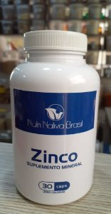 Zinco Quelato - 30 Cápsulas - Nutri Nativa Brasil