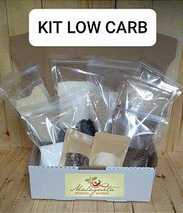 Kit nº 1 Low Carb c/ 10 ingredientes (S/ Glúten) c/ Sacos ZIP