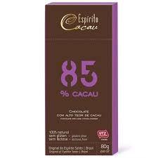 CHOCOLATE 85 CACAU - 80G - ESPIRITO CACAU