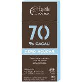CHOCOLATE 70 CACAU ZERO 25G ESPIRITO CACAU