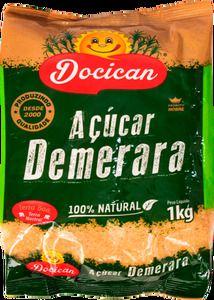 Açúcar Demerara - 1kg - Docican