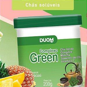 COMPLEXO GREEN CHA VERDE, GENGIBRE, MATCHA, CHIA - 200G - DUOM