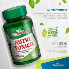 Nutri Tônico (Polivitamínico) - 90 Cápsulas de 1000mg - Semprebom